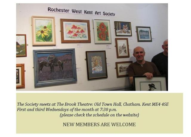 2013-6 Rochester and West Kent Art SocietyExhibiton - Invitation flyer
