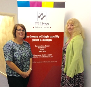 Lucy Fogarty, TT LItho Director (left) and Festival Director Jaye