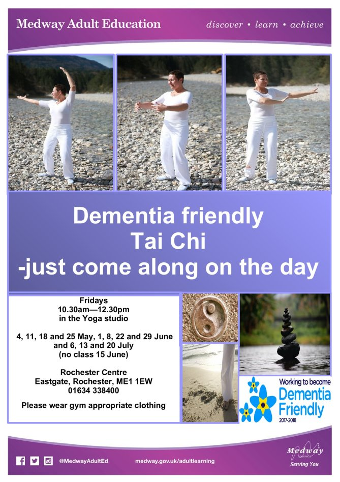 Tai Chi Summer course Fridays 10.30-12.30 Medway Adult Education, Rochester Community Hub